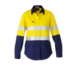 3m Taped 2 Tone Womens Hi Vis Industrial Cool Vent Shirt Yelnav