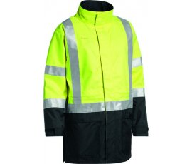 3m Taped Two Tone Hi Vis Anti Static Wet Weather Jacket Bj6963t Tt12 01