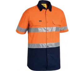 3m Taped Two Tone Hi Vis X Airflow Ripstop Shirt Bs1415t