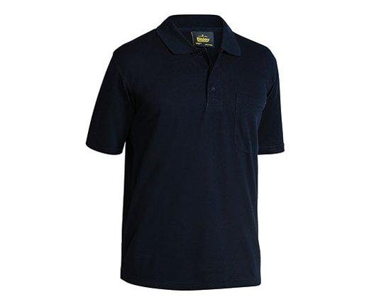 Mens Poly Cotton Polo Shirt - Black 2XL - Shirts a0901f08eac